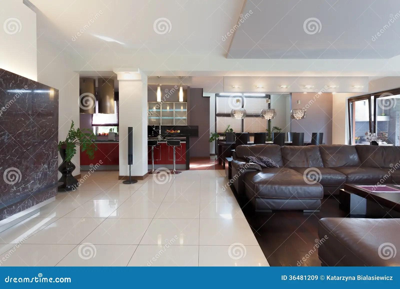Cucina Salone E Sala Da Pranzo Immagine Stock  Immagine 36481209