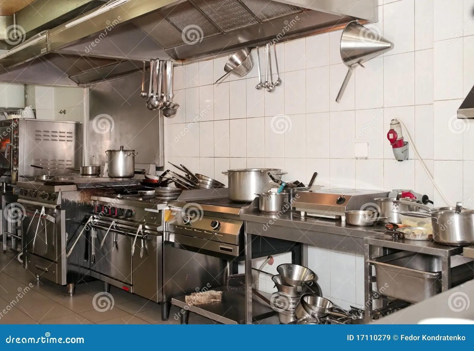 Cucina Tipica Di Un Ristorante Immagine Stock  Immagine di reale preparazione 17110279