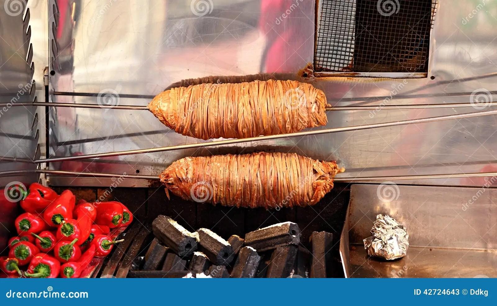 Cucina turca Kokorec immagine stock Immagine di corsa