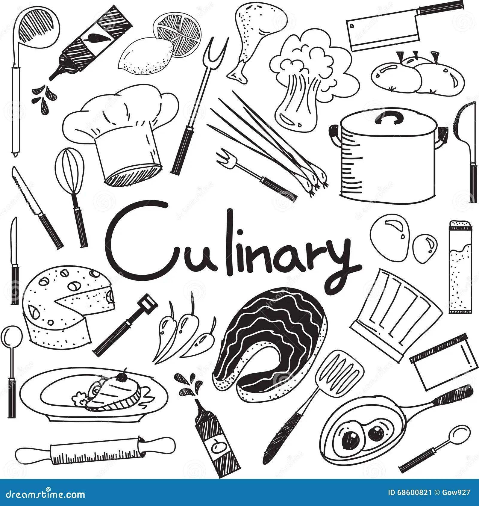 Culinario Y Cocinando El Garabato De Los Ingre Ntes