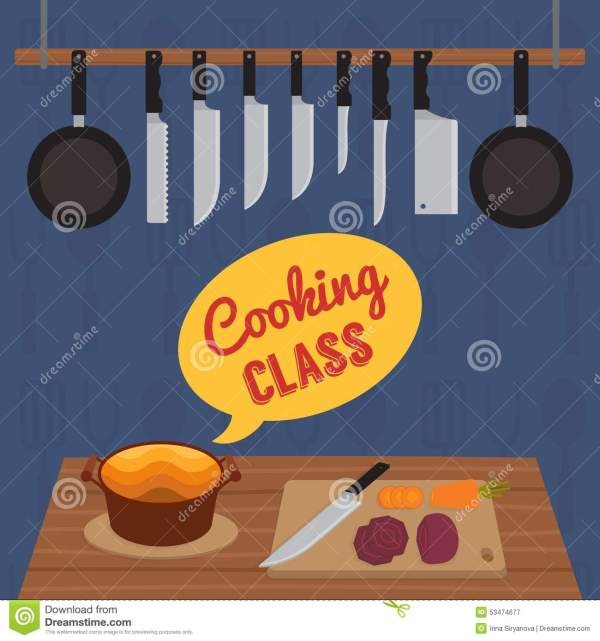 Culinary Cooking Class Stock Vector. Of Preparation