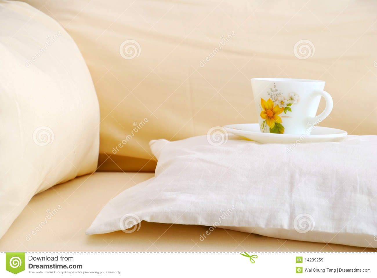 sofa ball stopper willow and hall bed instructions cup on a cushion royalty free stock images image 14239259
