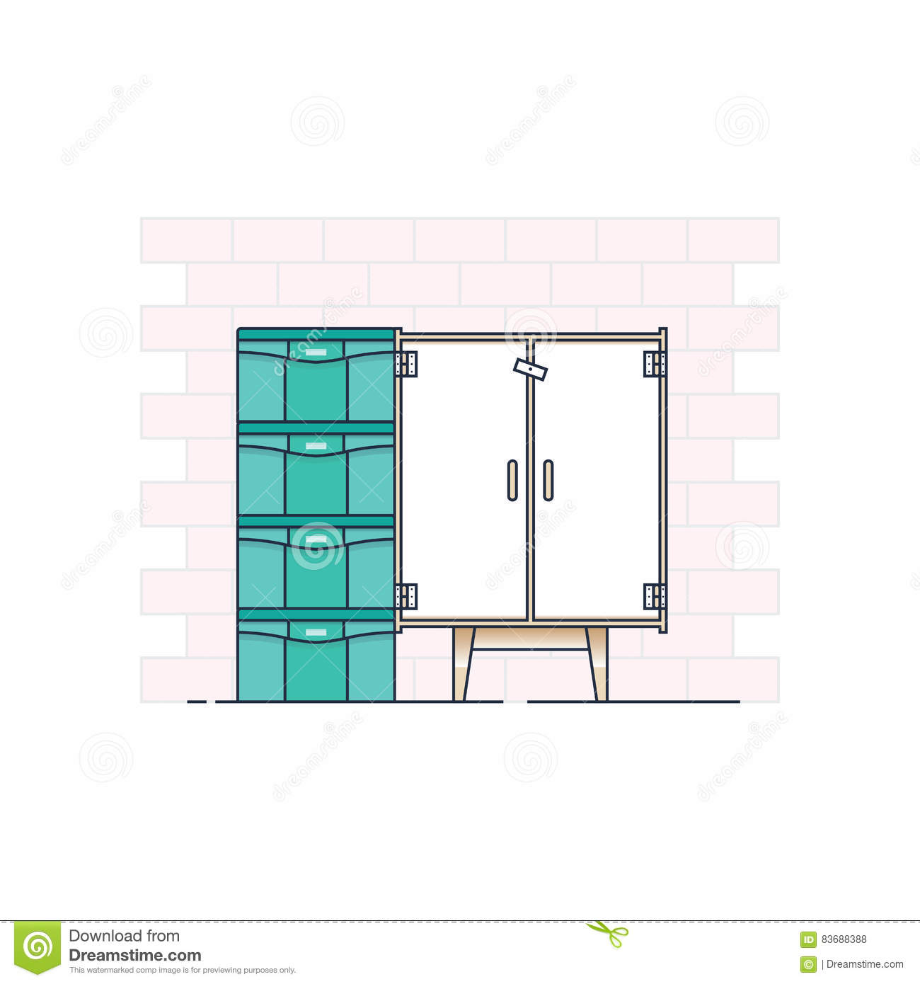 hight resolution of cupboard illustration home solution small tools deck family needs buy equipment