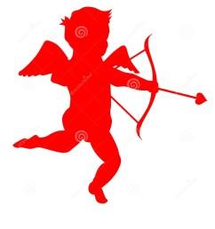 a silhouette of a cute little cupid eps clip art jpeg [ 1095 x 1300 Pixel ]