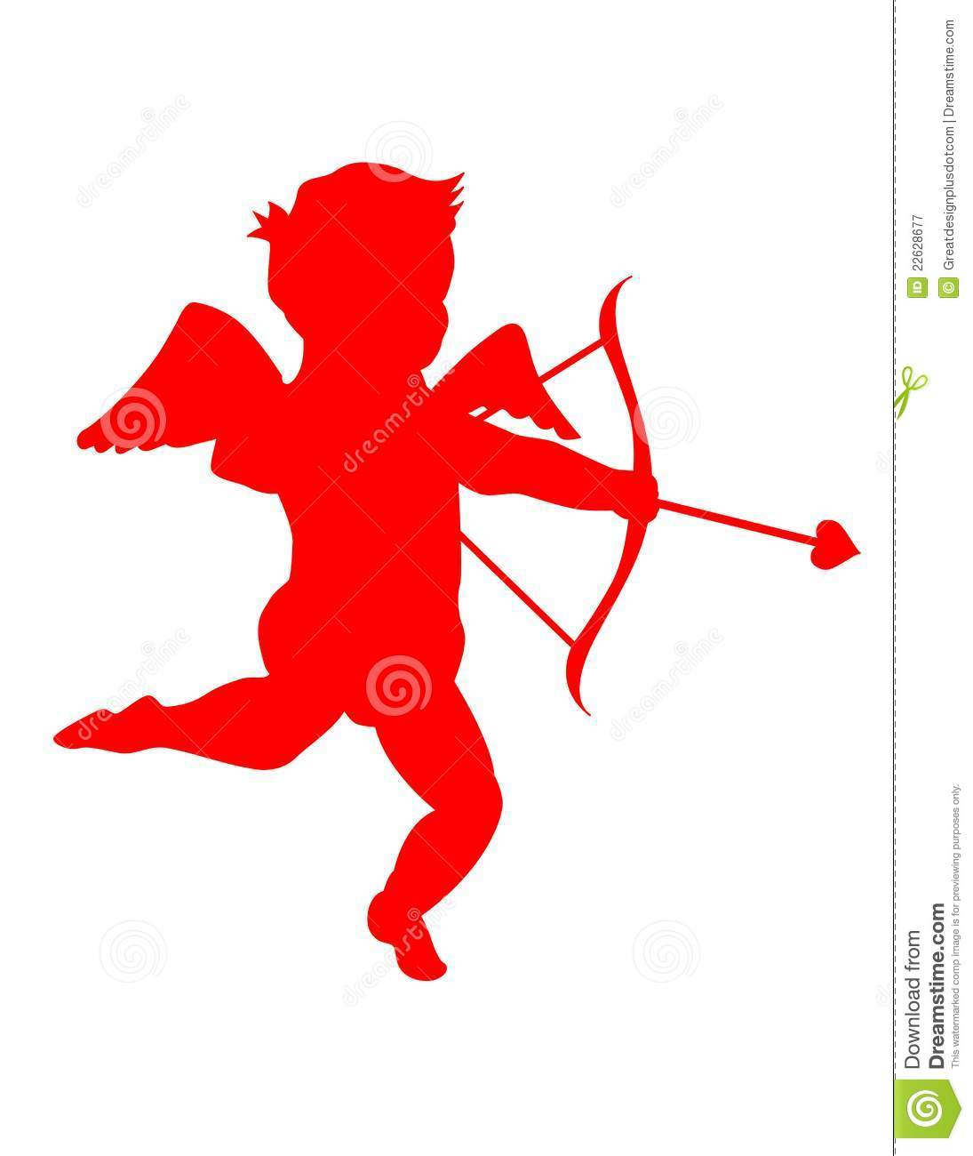 hight resolution of a silhouette of a cute little cupid eps clip art jpeg
