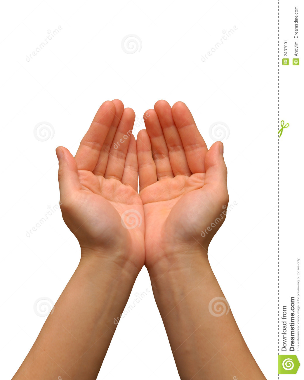 cupping hand gesture stock