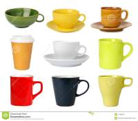Cups And Mugs Collection Stock Photo - Image: 11929910
