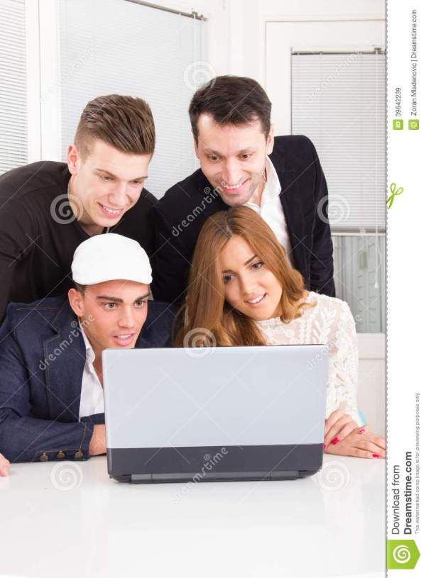 Friends Looking at Computer