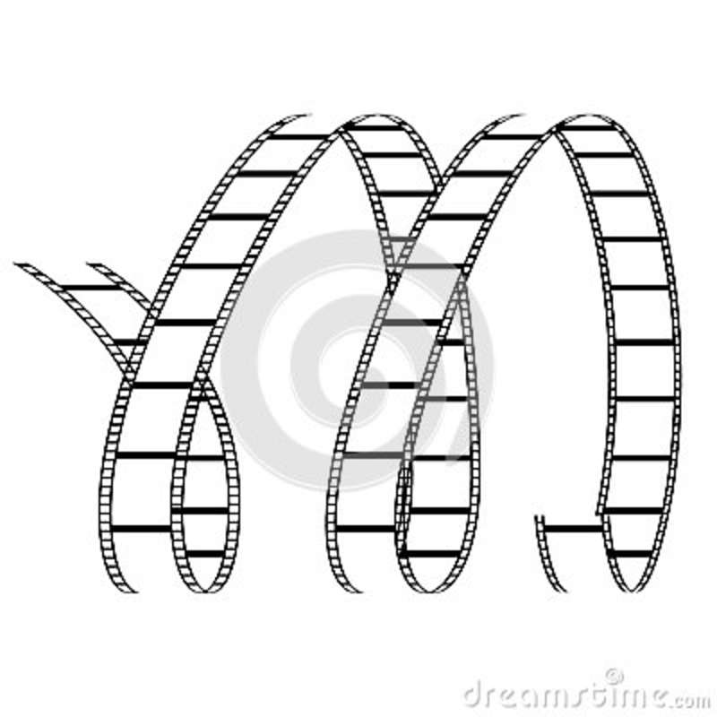 Curly Film Reel Forming Letter M Royalty Free Stock Images