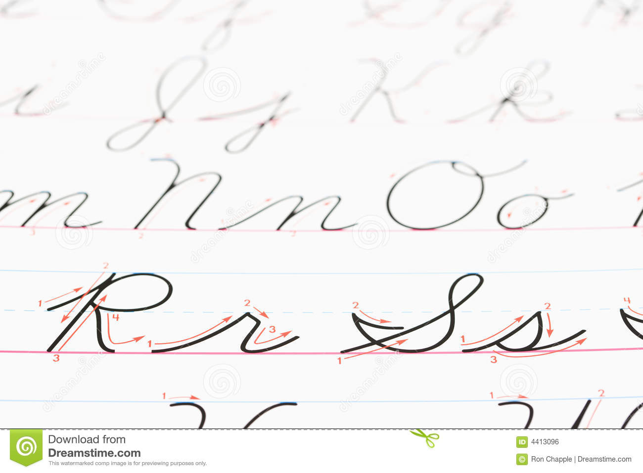 Cursive handwriting. stock photo. Image of alphabet, color