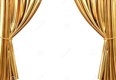 Gold Curtains Background
