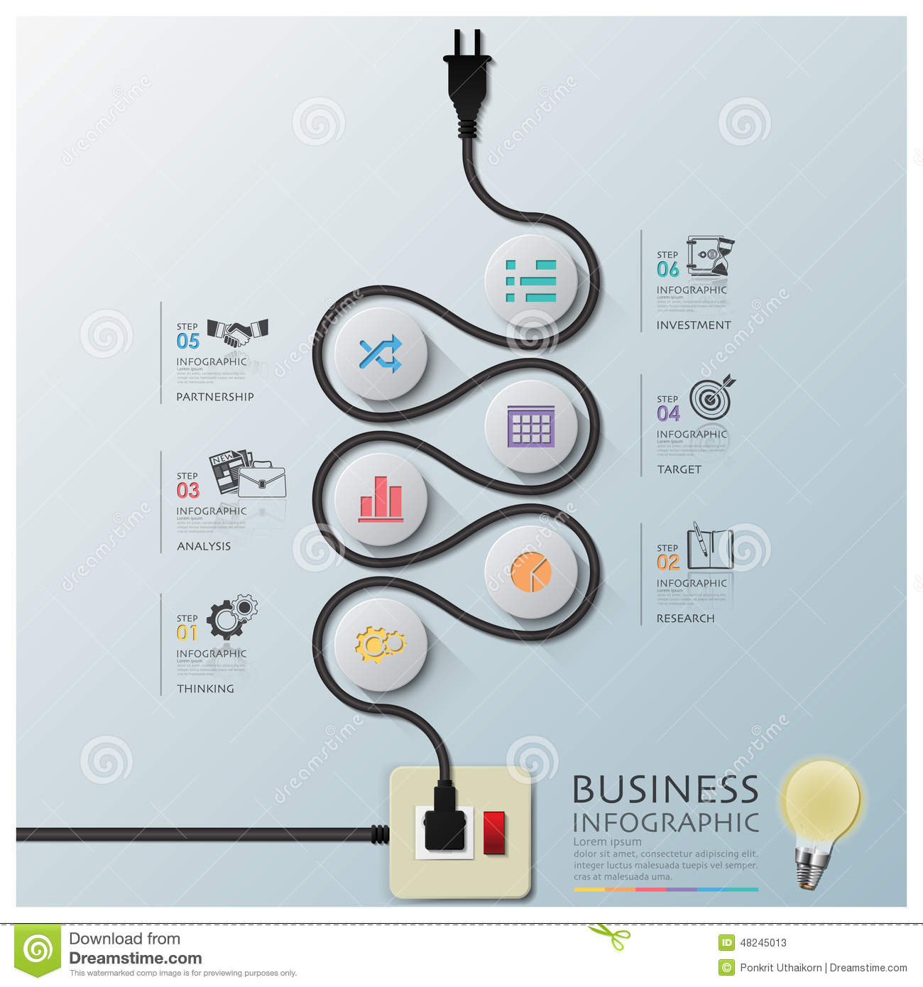 hight resolution of curve electric wire line diagram business infographic