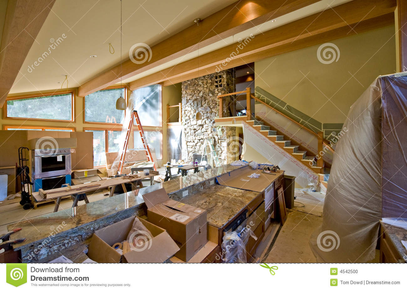 Custom Home Remodeling Stock Photo. Image Of Modern, House