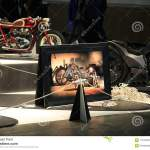 Custom Motorcycle In A Big Photo Frame Among Custom Motorcycles In Reality Editorial Stock Photo Image Of Lacquered Chieftain 116105923