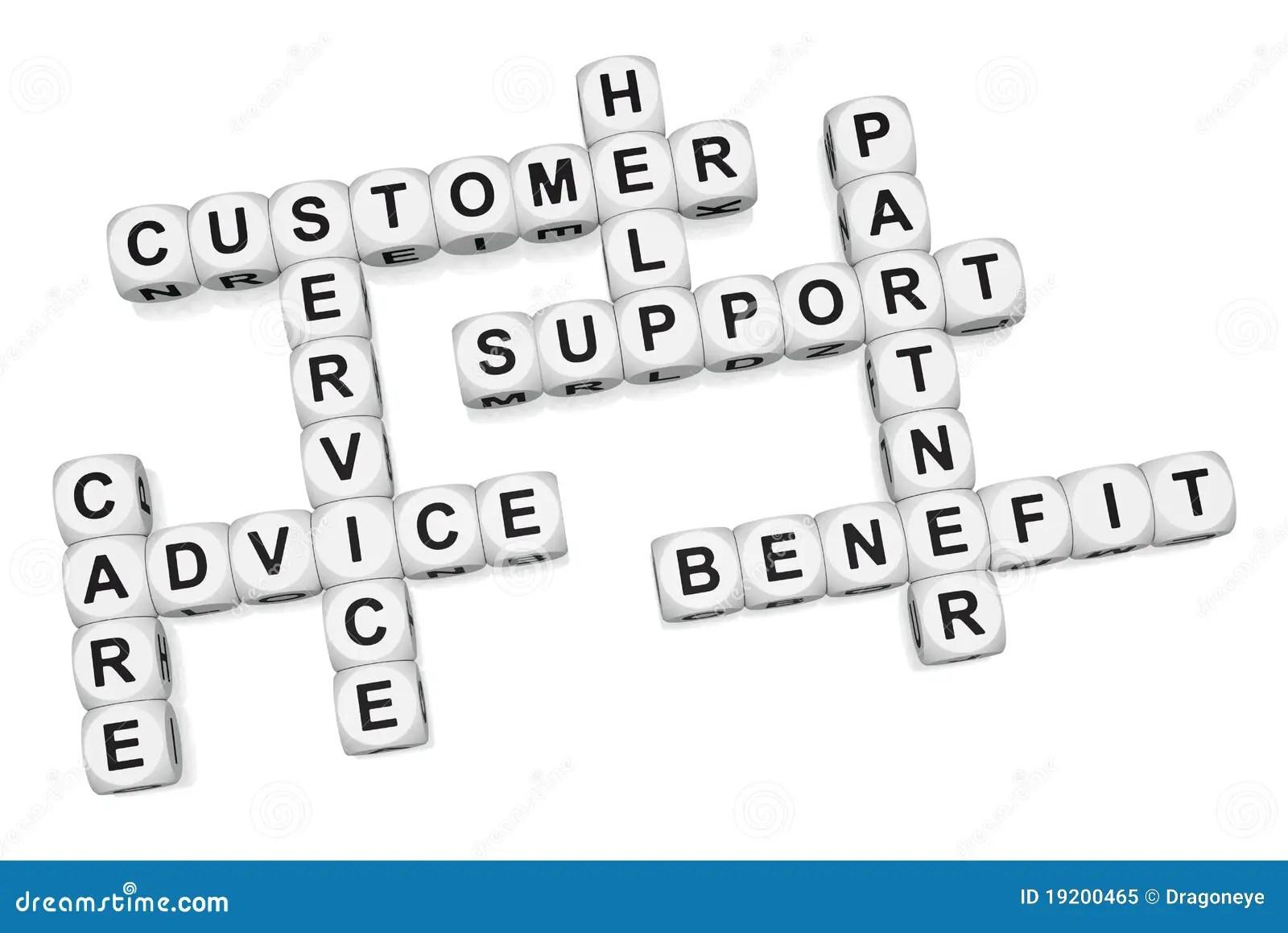 Customer Benefit Of Quality Service Stock Illustration