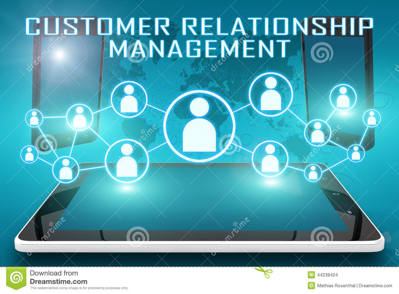 Customer Relationship Management Stock Illustration  Illustration of quality management 44238424
