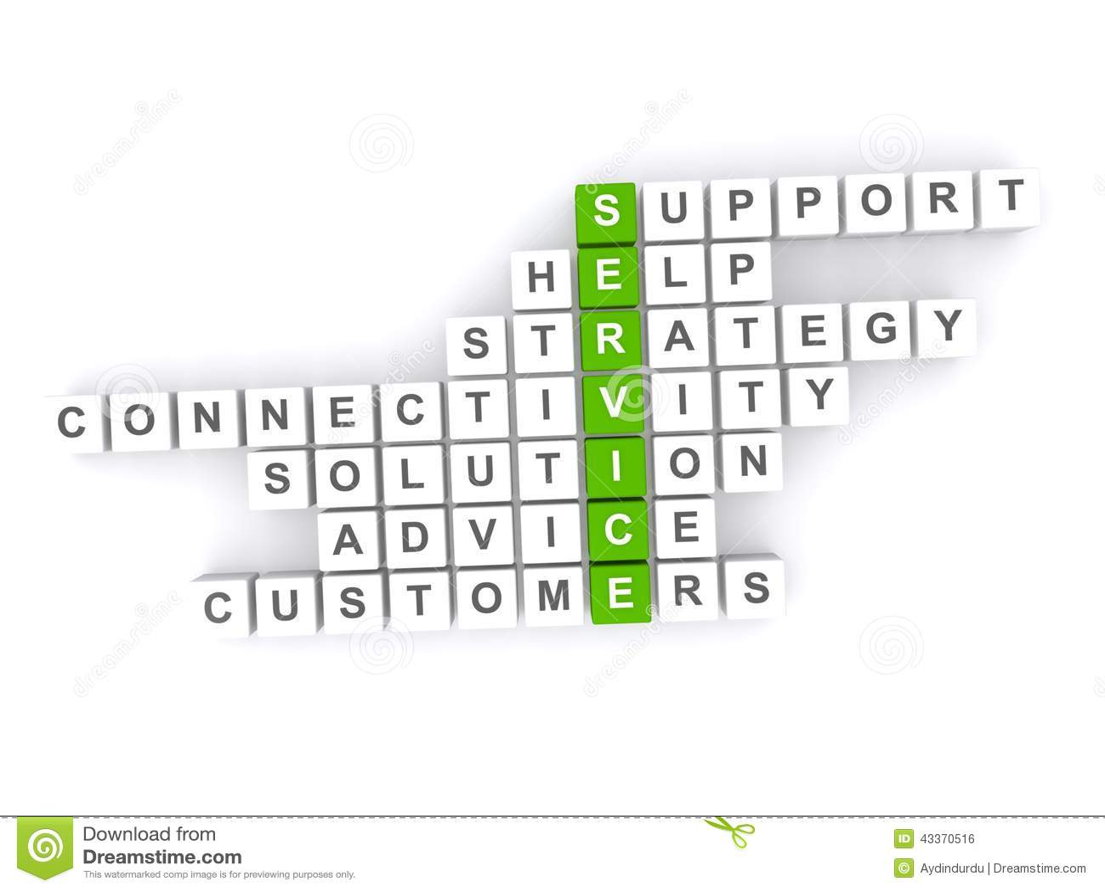 Help Support Advice Customer Service Crossword Stock