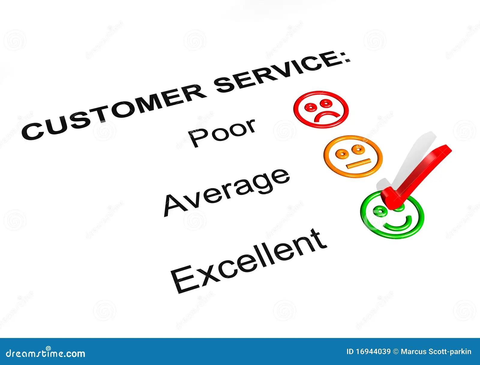 Customer Service Excellent Rating Stock Illustration