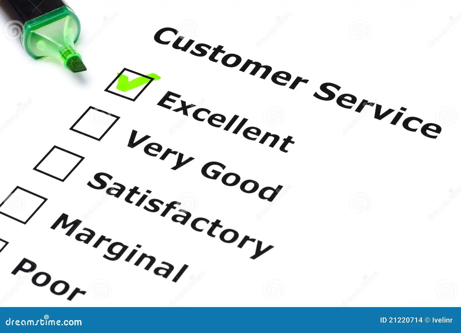 Customer service survey stock photo. Image of organization