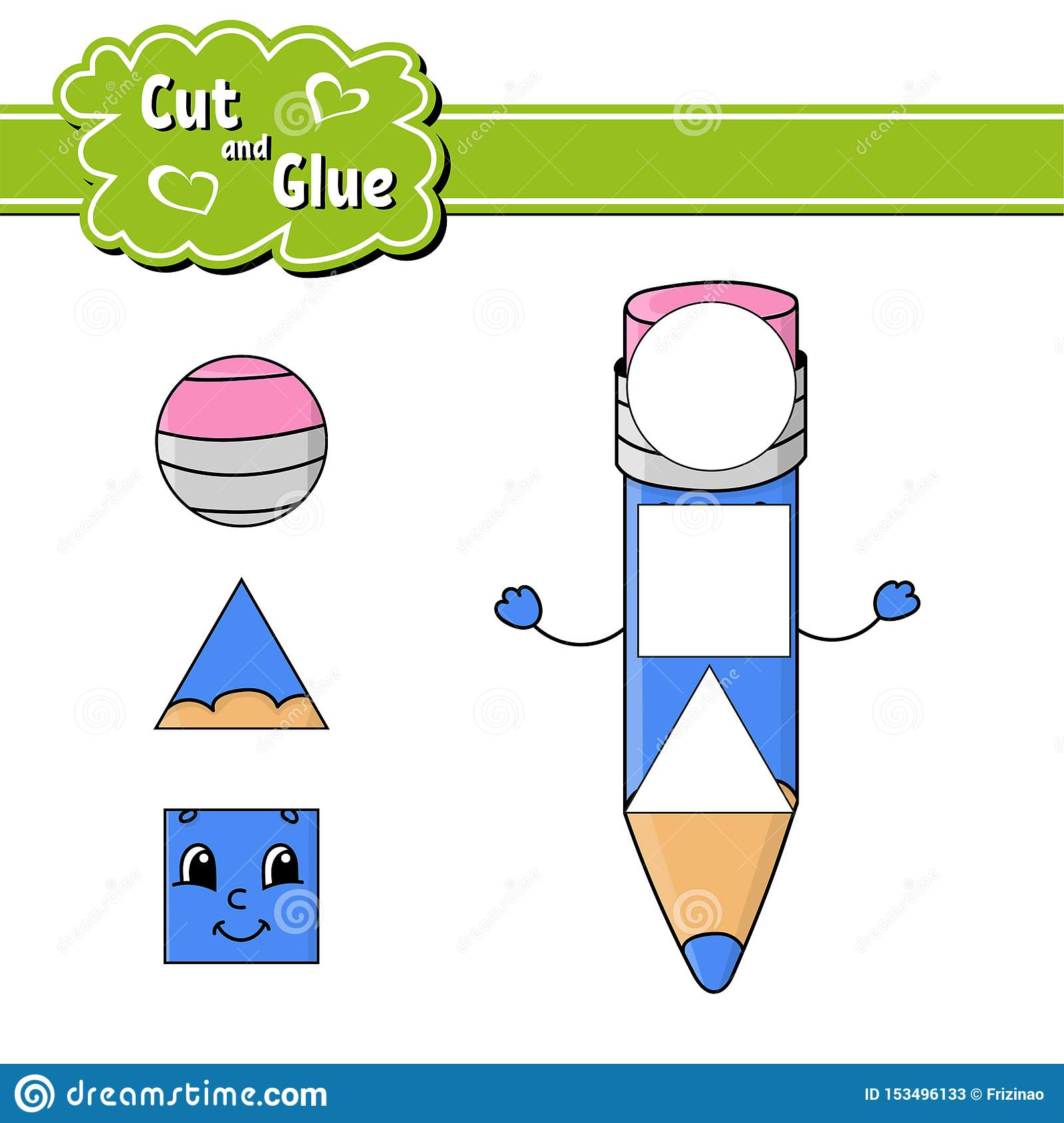 Cut And Glue Education Developing Worksheet Activity