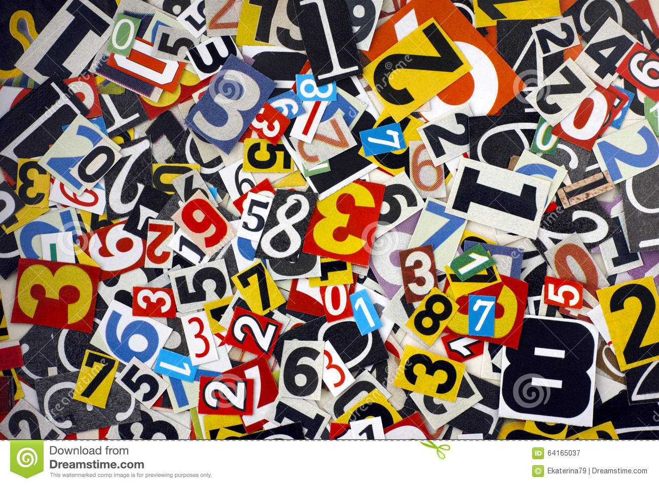 Cut Out Numbers Stock Image Image Of Typeset Number