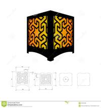 Cut out template for lamp stock vector. Illustration of ...