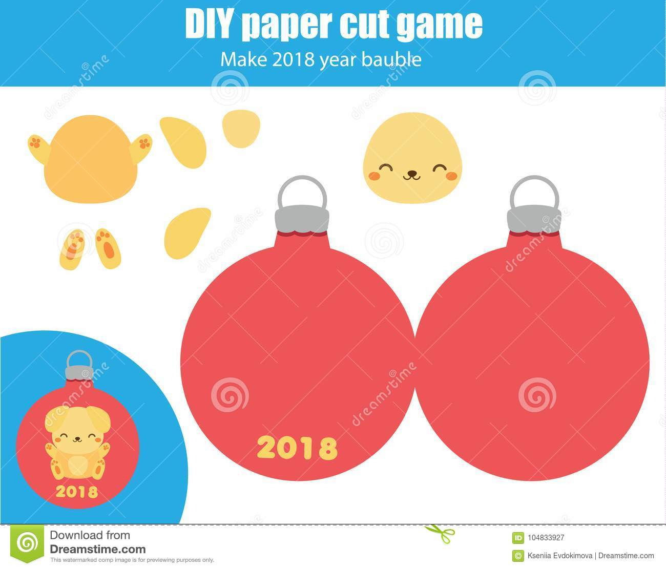 Cut And Paste Children Educational Game Paper Cutting