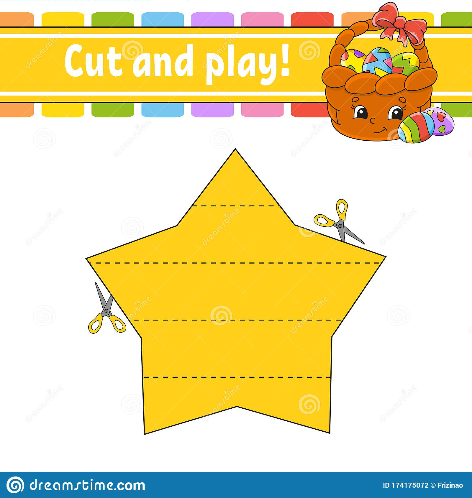 Cut And Play Logic Puzzle For Kids Education Developing