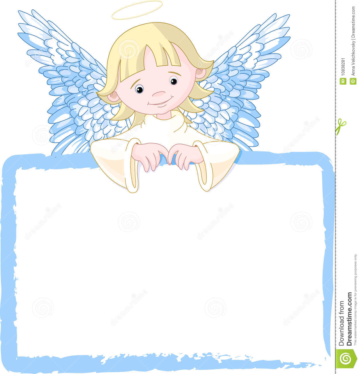 Cute Angel Invite Amp Place Card Stock Image Image 10838281