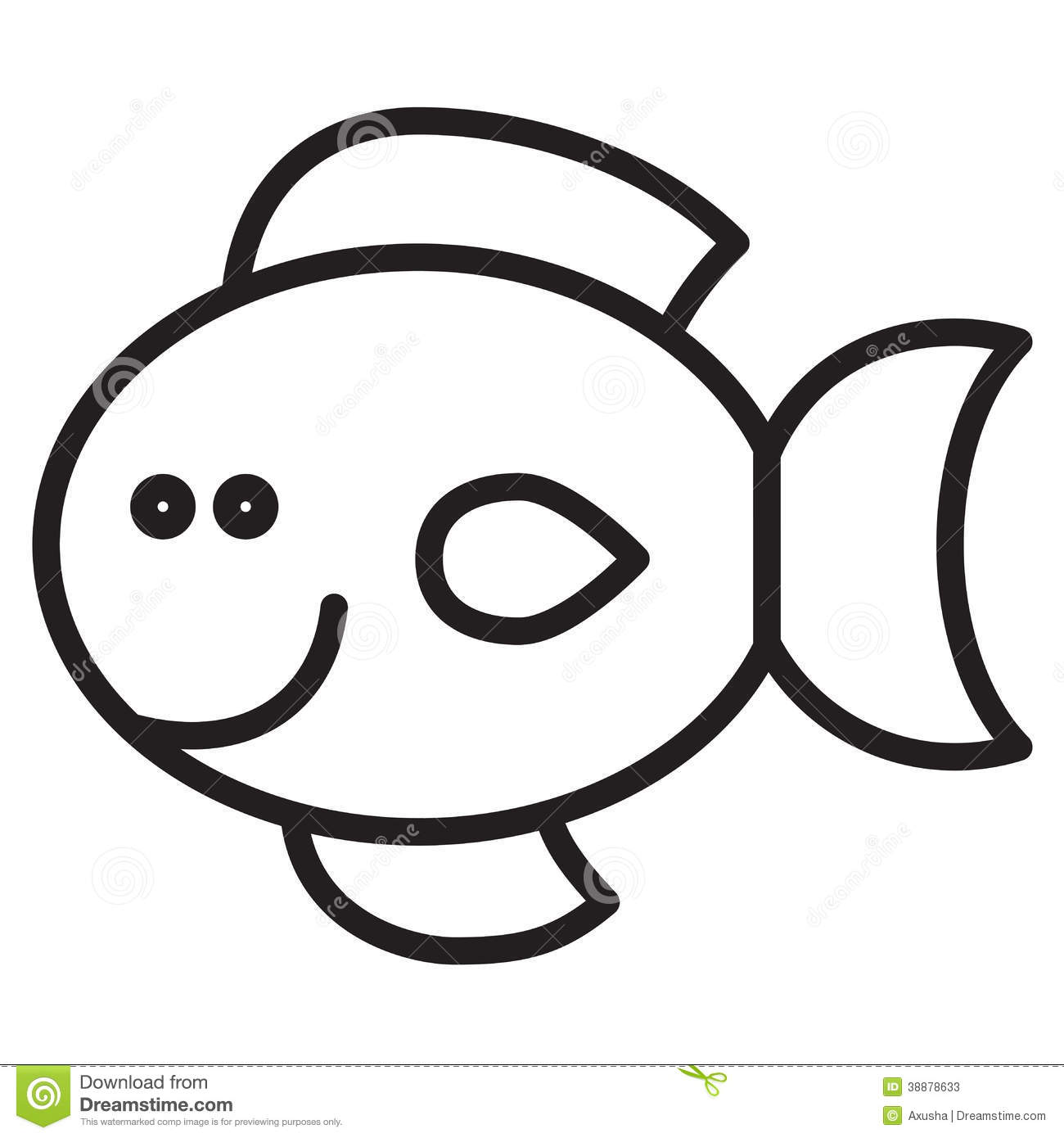 Baby Fish Clipart Black And White