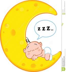 baby moon cute boy cartoon sleeps speech bubble sleeping character clipart royalty face