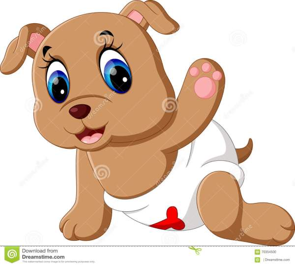 Cute baby dog cartoon stock vector Illustration of cute