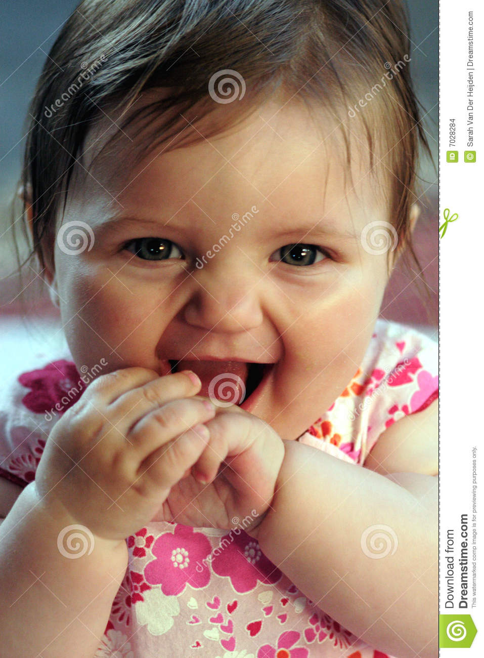 Cute Baby Girl Smiling Stock Images  Image 7028284