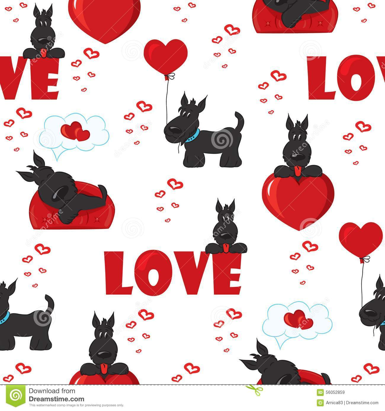 Cute Dog Doodle Wallpaper Cute Background With Dogs And Hearts For Valentine S Day