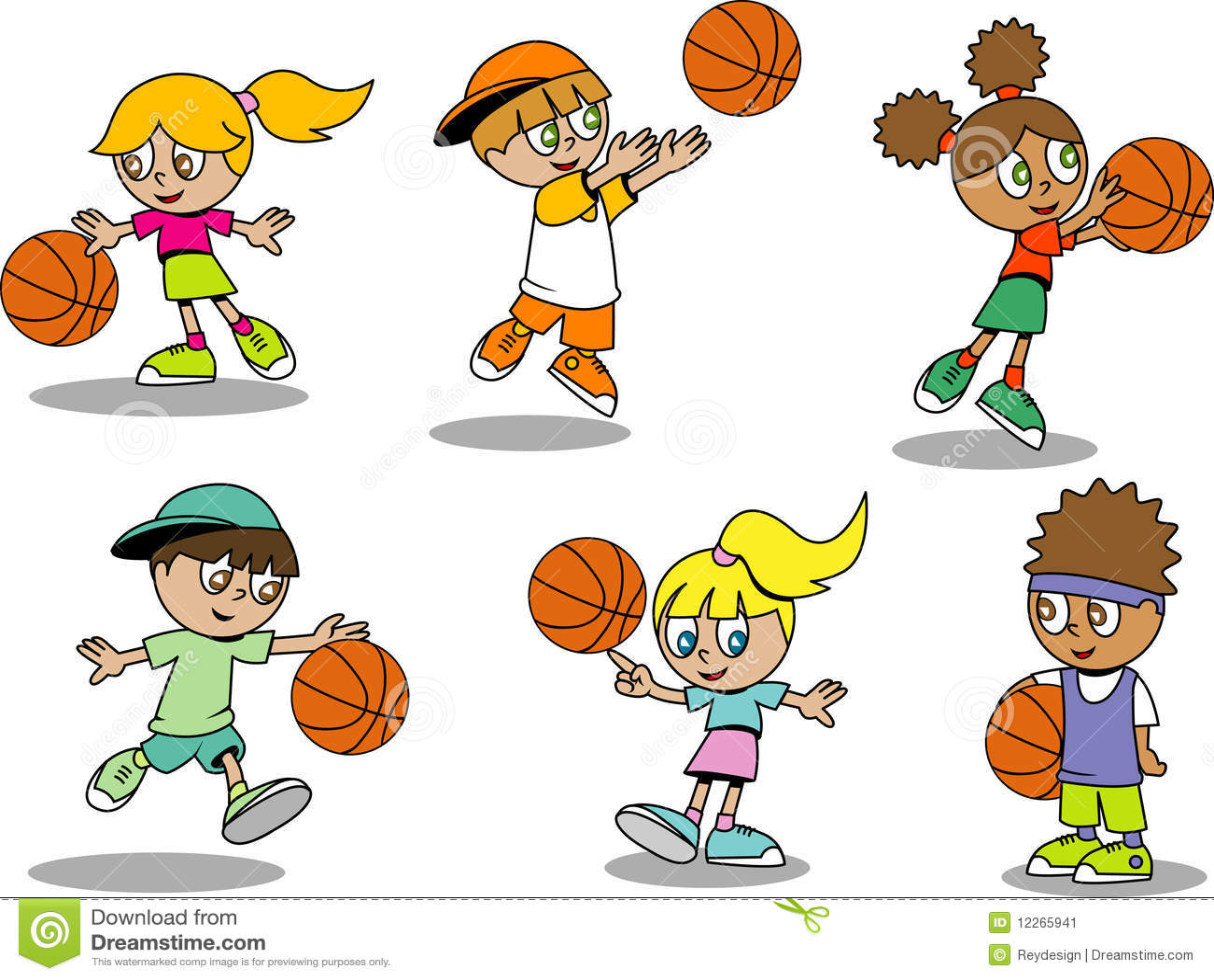 Cute Basketball Kids Stock Vector Illustration Of
