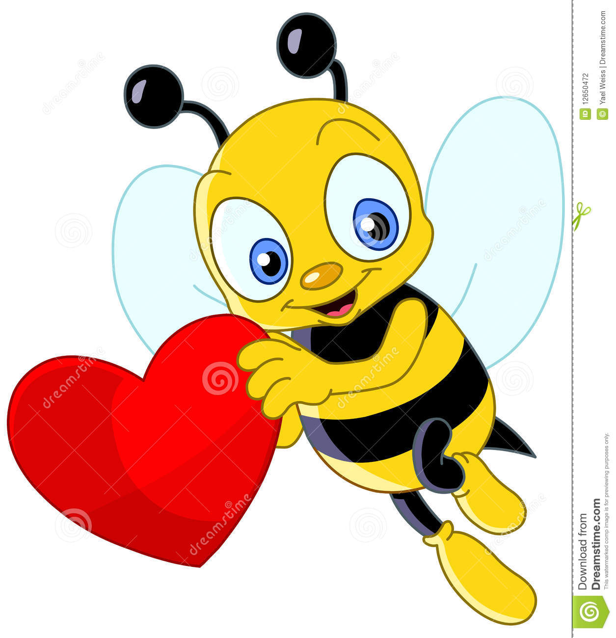 Cute Bee Valentine Stock Vector Illustration Of Date