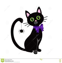 halloween cat cute clipart vector background illustration isolated cats clip silhouette illustrations shutterstock witch silhouettes drawings digital preview sketch vectors