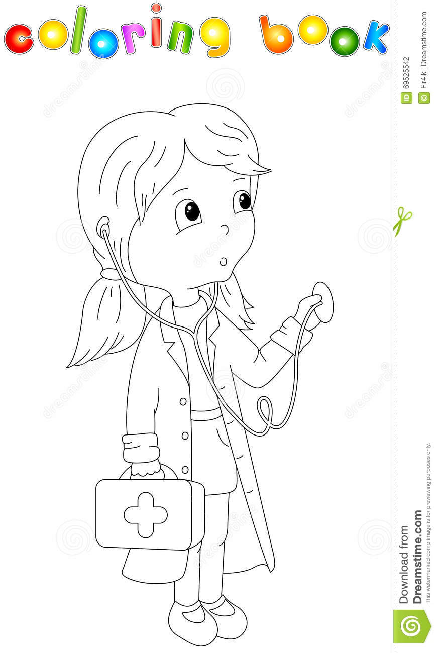 Cute Cartoon Doctor With A Stethoscope Stock Vector
