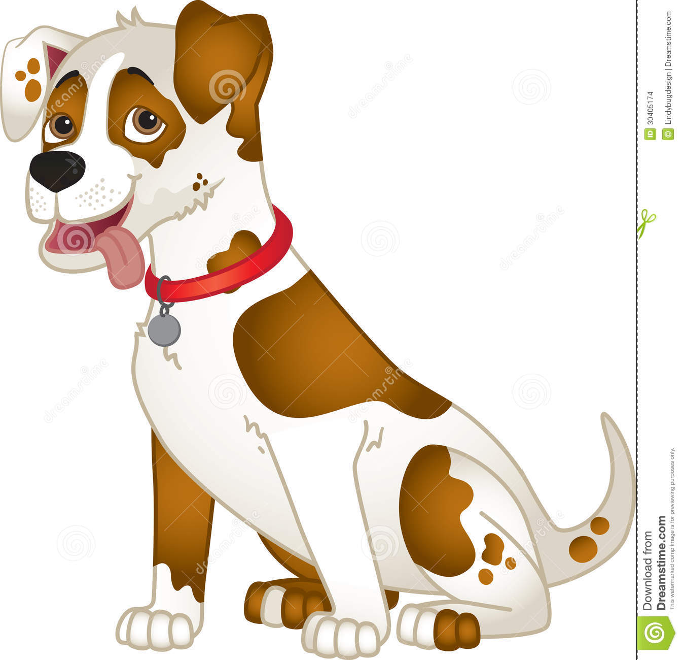cute cartoon dog stock images - image: 30405174