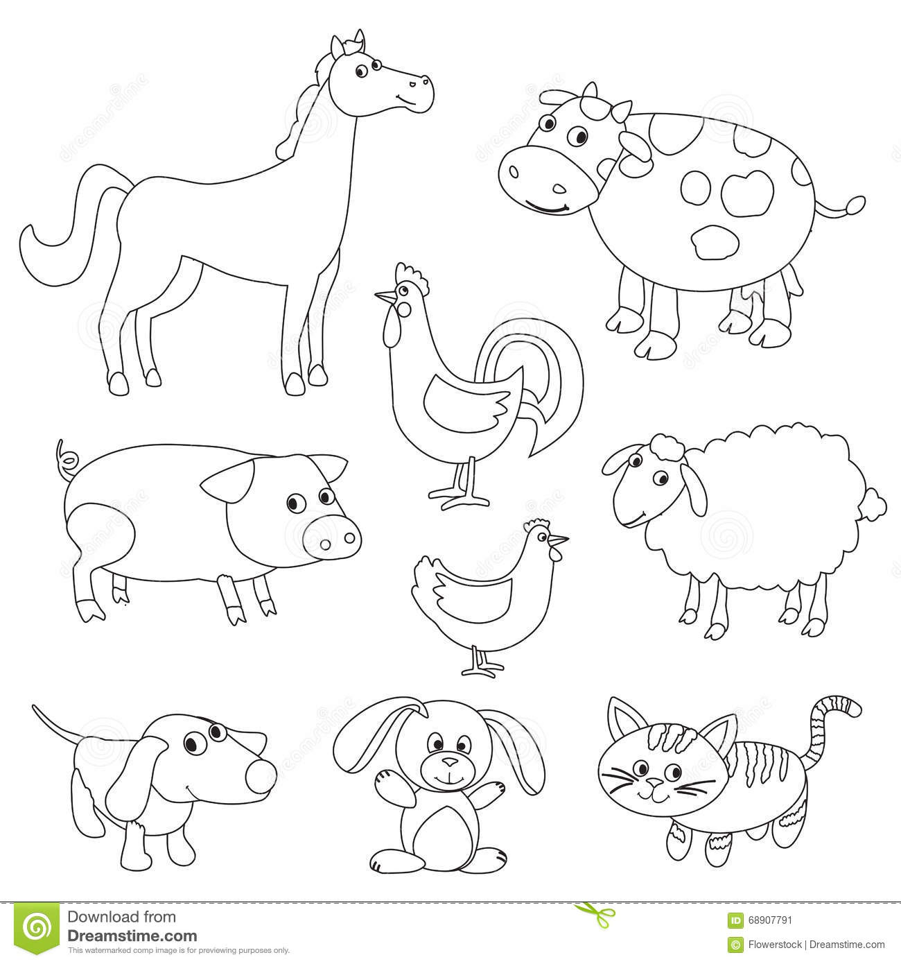 Baby Lamb Coloring Coloring Pages