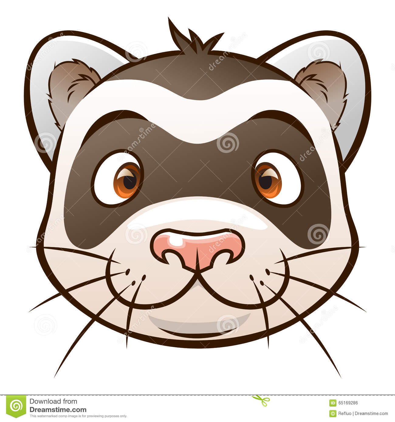 hight resolution of cute cartoon ferret face of cartoon ferret on the white background look similar pets