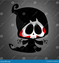 cute cartoon grim reaper cartoon clipart  [ 1600 x 1690 Pixel ]