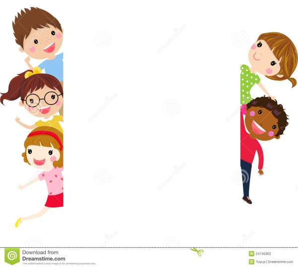Cute Cartoon Kids Frame Stock Vector. Illustration Of