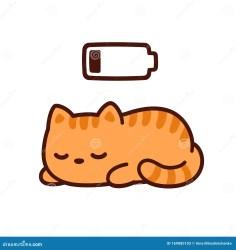 sleeping cartoon cat drawing kitten vector bedtime