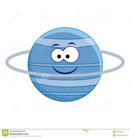 small resolution of cute cartoon uranus planet vector illustration isolated on whi
