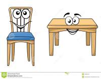 Table And Chairs Cartoon