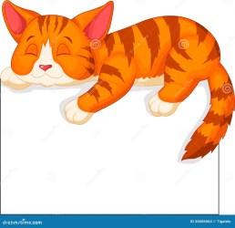 cartoon cat sleeping kitten orange pancarte cartoons fumetto slaap kattenbeeldverhaal leuke het gato nettes cats sveglio gatto sonno 1986 animados