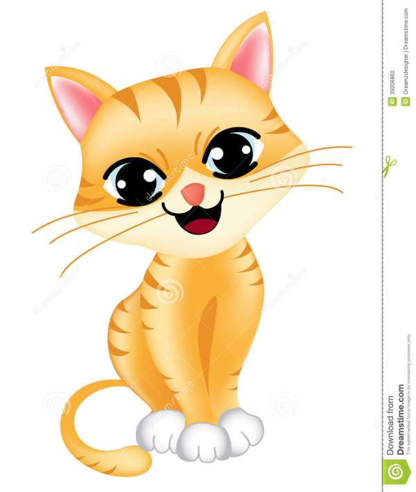 cute cat stock vector. illustration
