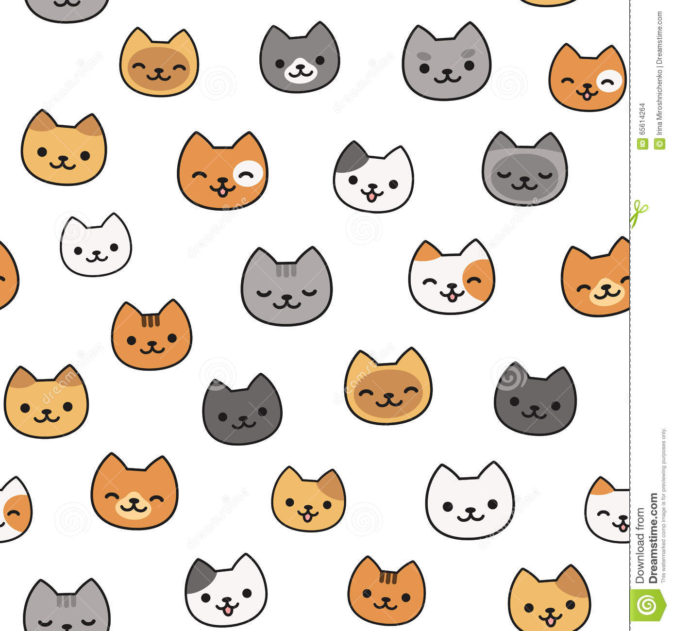 cute cat pattern stock