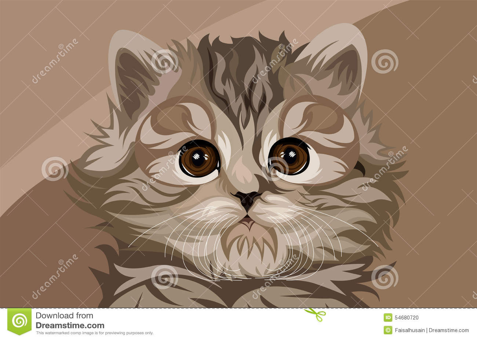 Cute Kawaii Animal Wallpapers Cute Cat Vector Stock Illustration Image 54680720